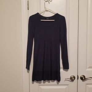 Dark blue sweater dress